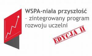 Logo projektu WSPA-niała przyszłość - zintegrowany program rozwoju uczelni. Edycja II.